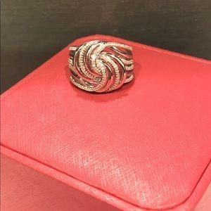 Jewelry - NWOT Genuine .52ctw Diamond Ring sat in 925